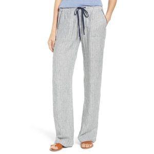 Nordstrom Striped Linen Pants